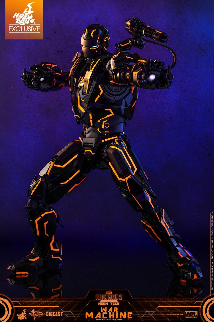 Hot Toys - War Machine - Neon Tech Diecast Version - Iron Man 2