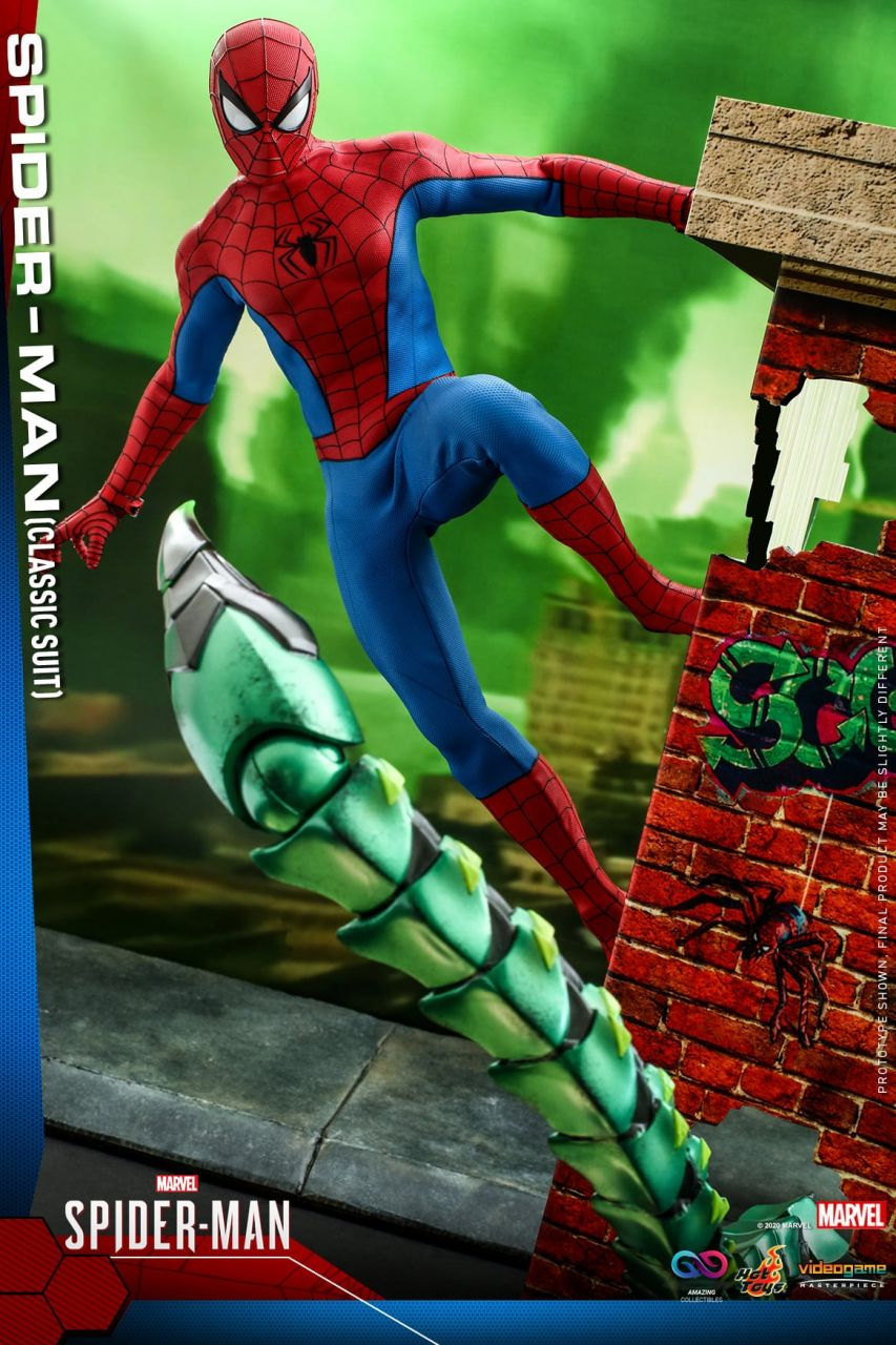 Hot Toys - Spiderman - Classic Suit - Marvel Spiderman - PS4 Videogame