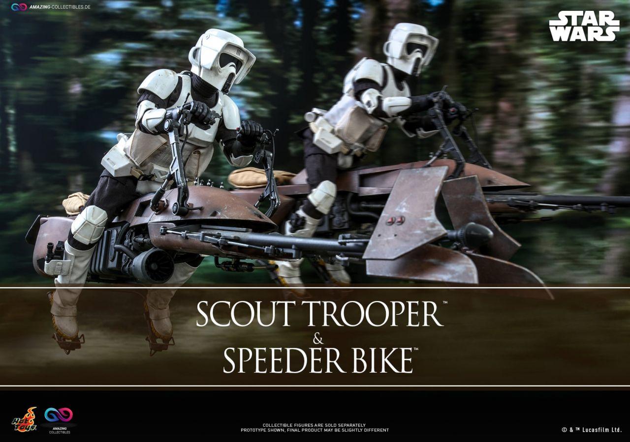 Hot Toys - Scout Trooper and Speeder Bike - MMS612 - Star Wars: Die Rückkehr der Jedi Ritter