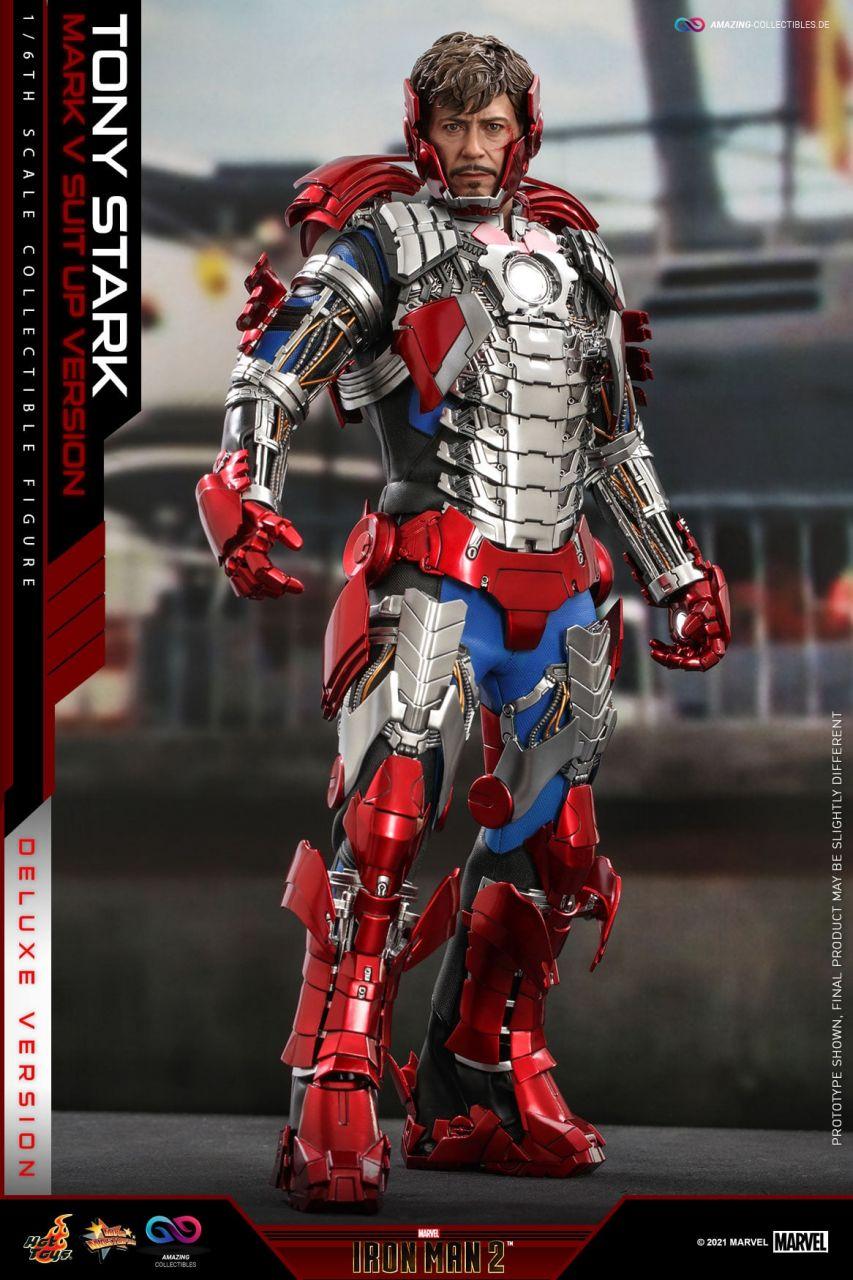 Hot Toys - Tony Stark - Mark V Suit Up Version - Deluxe Version - MMS600 - Iron Man 2