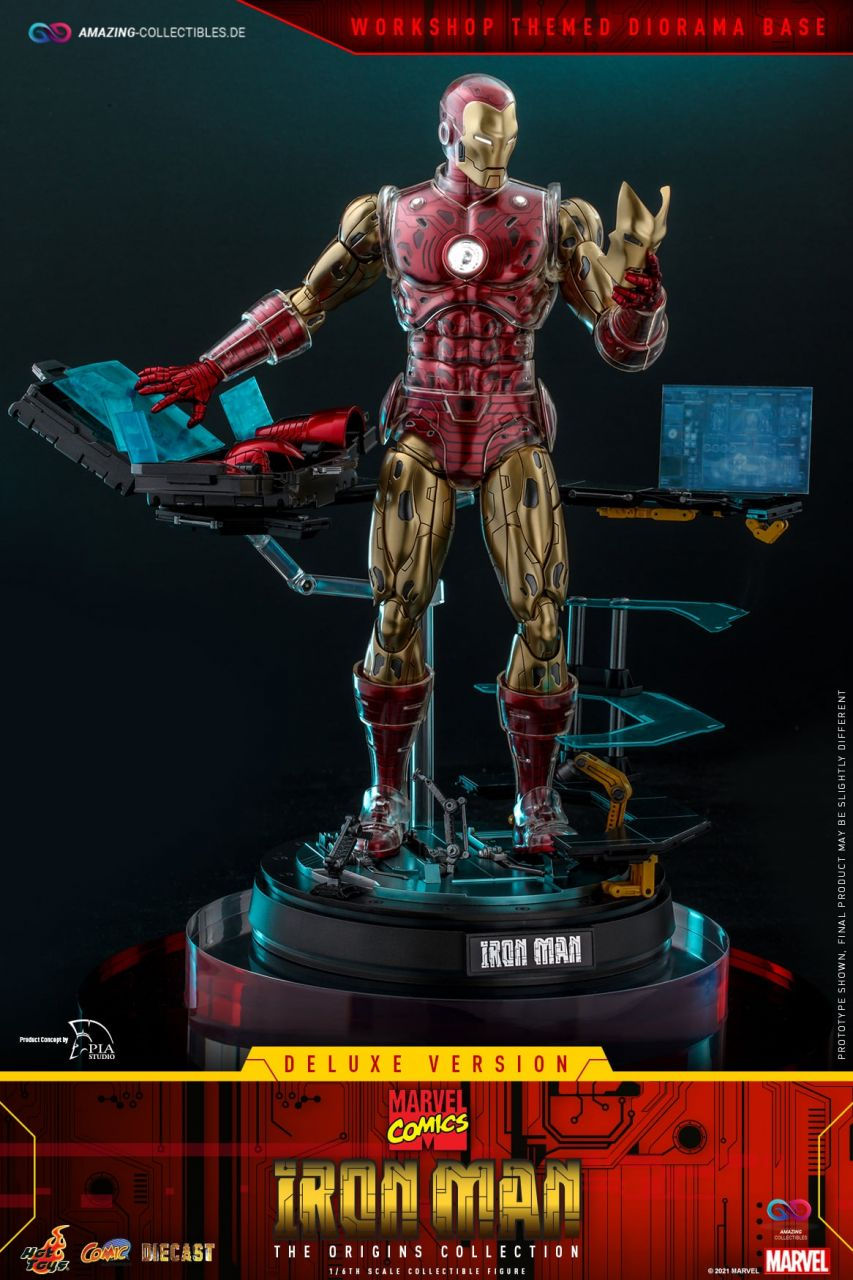Hot Toys - Iron Man - Deluxe Edition - Marvel Comics - The Origins Collection