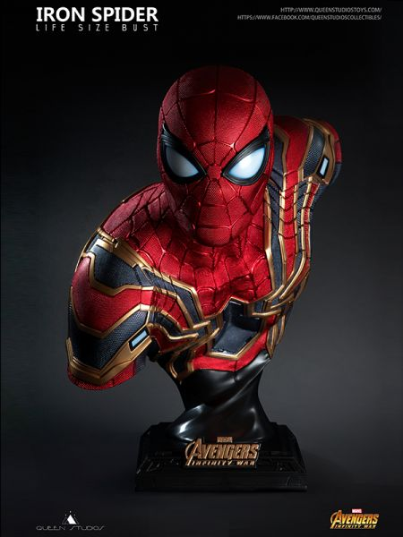 Queenstudios -Spiderman/ Iron Spider Life Size Bust - Avengers: Infinity War