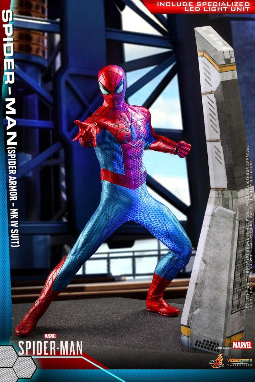 Hot Toys - Spiderman - Mark IV Armor - Marvel Spiderman - PS4 Videogame