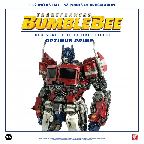 ThreeA - Optimus Prime - Transformers - Bumblebee - DLX Scale