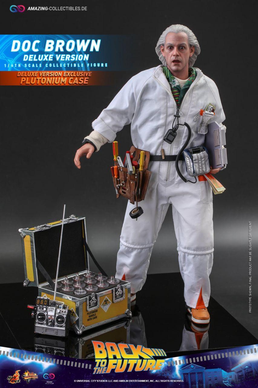 Hot Toys - Doc Brown - Deluxe Version - MMS610 - Zurück in die Zukunft