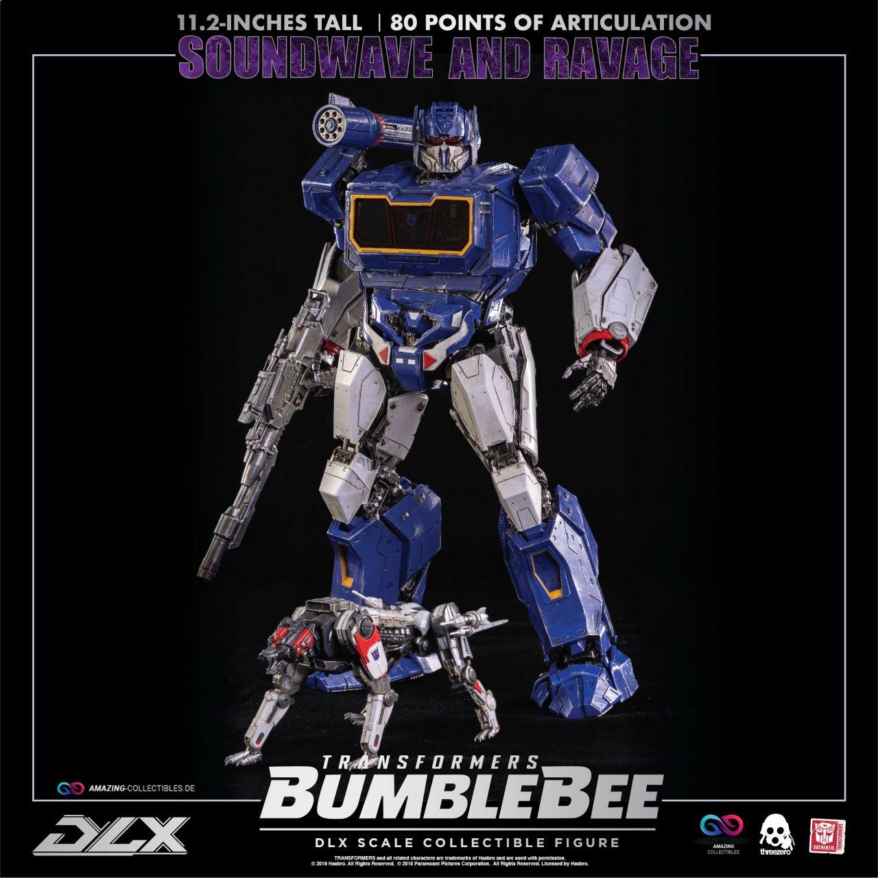 ThreeZero - Soundwave & Ravage - Transformers - Bumblebee - DLX Scale