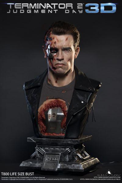 Queenstudios - Terminator T800 Life Size Bust - Terminator 2 Judgement Day
