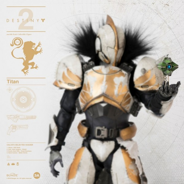 ThreeA - Calus's Selected Shader -Bungie - Destiny 2 Titan