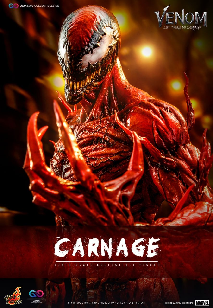 Hot Toys - Carnage - Deluxe Version - MMS620 - Venom:Let there be carnage