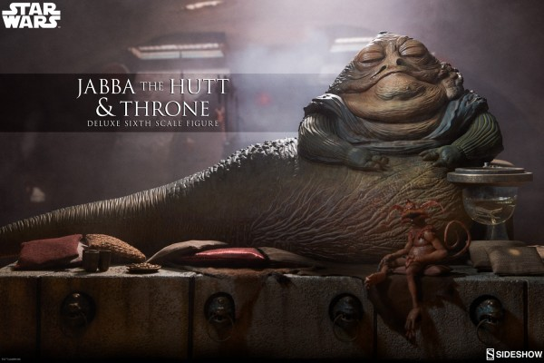 Sideshow - Jabba the Hutt & Throne - Star Wars: Die Rückkehr der Jedi Ritter-Showroom Sample