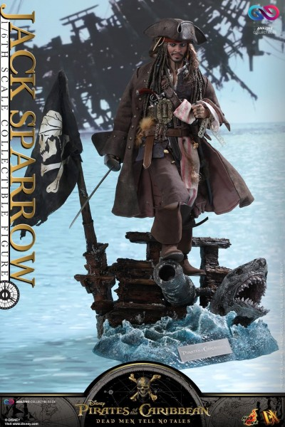 Hot Toys - Captain Jack Sparrow - Pirates of the Caribbean - Dead man tell no tales - DX15