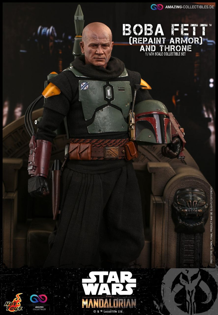 Hot Toys - Boba Fett and Throne - Repaint Armor Version - TMS055 - Star Wars: The Mandalorian