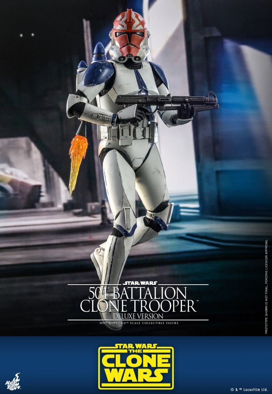 Hot Toys - 501st Battalion Clone Trooper (Deluxe) - TMS023 - Star Wars: The Clone Wars