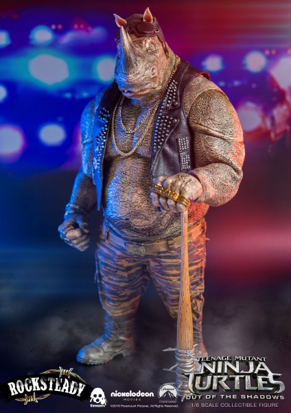 ThreeZero - Rocksteady- Teenage Mutant Ninja Turtles- Out of the Shadows 1/6