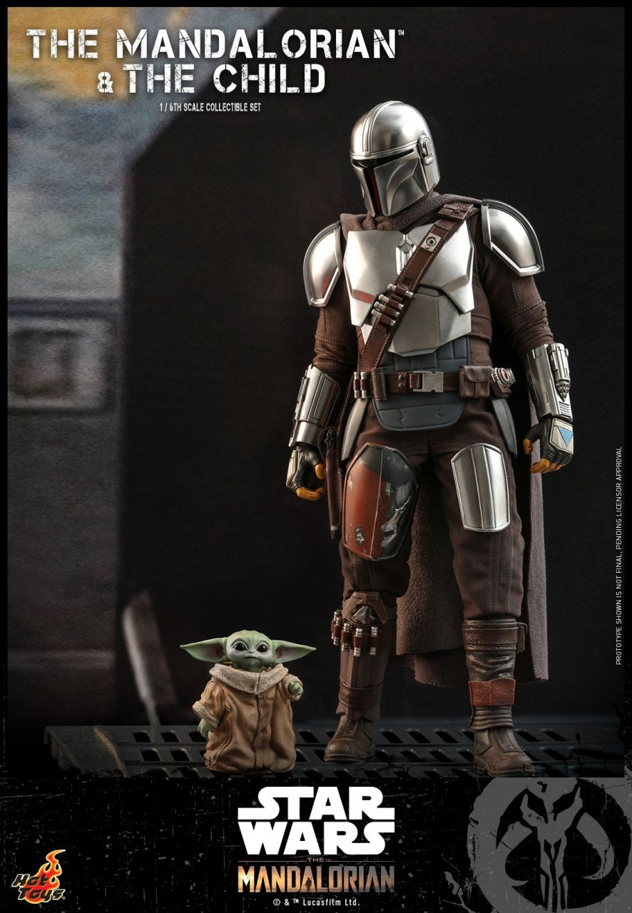 Hot Toys - The Mandalorian & The Child - Collectible Set - Star Wars: The Mandalorian