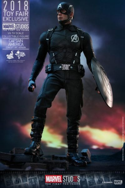 Hot Toys - Captain America - Concept Art Version - Marvel First Ten Years - Toy Fair Exclusiv