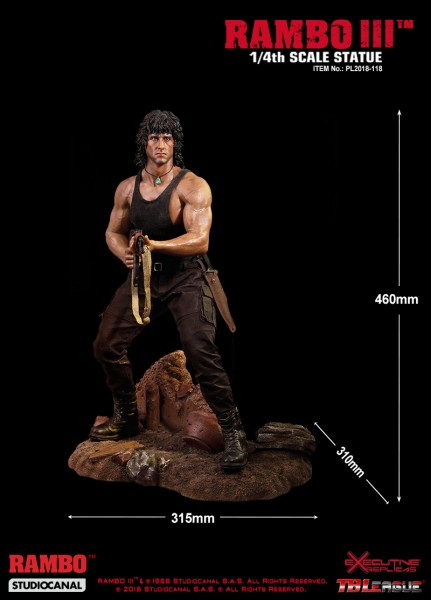 TBLeague - Rambo III - Sylvester Stallone - Quarter Scale Statue