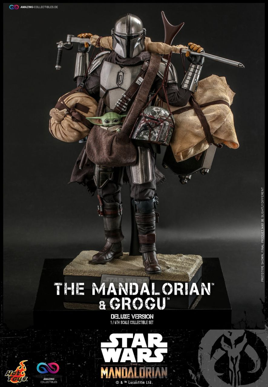 Hot Toys - The Mandalorian and Grogu - Deluxe Collectible Set - TMS052 - Star Wars: The Mandalorian-