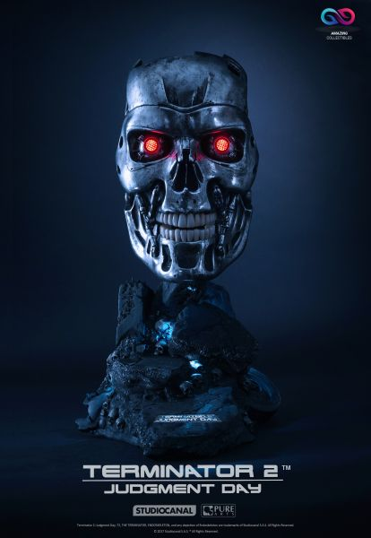 PureArts - T800 Endeskelett Art Mask - Terminator 2 Judgement Day - Limited Edition