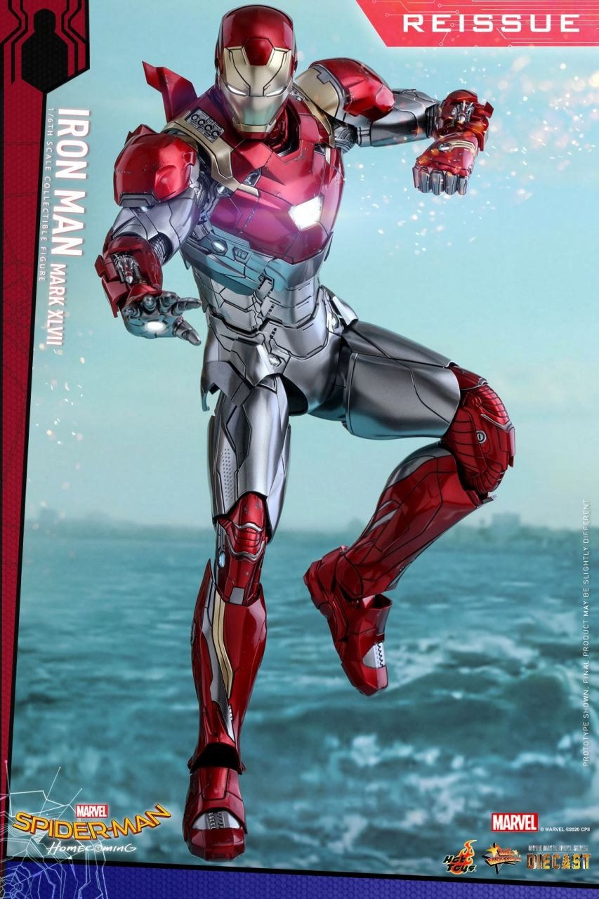 Hot Toys - Iron Man Mark 47 XLVII Diecast - Re-Release - Spiderman Homecoming