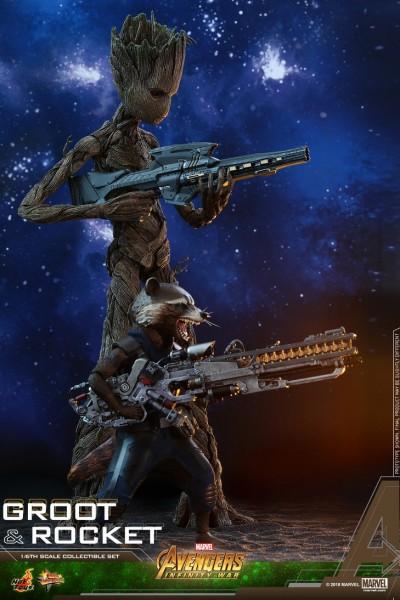 Hot Toys - Rocket und Groot Doppelset - Avengers: Infinity War
