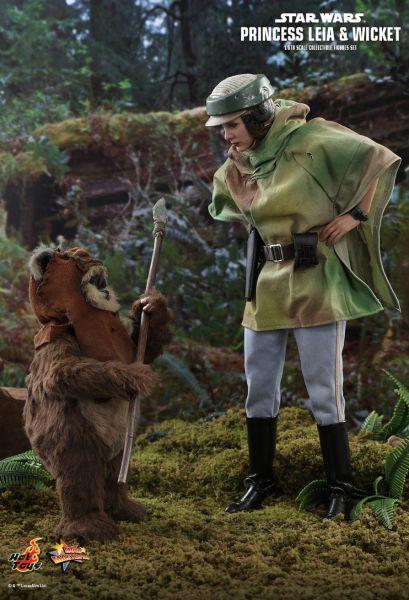 Hot Toys - Prinzessin Leia und Wicket - Figurenset - Star Wars - Die Rückkehr der Jedi Ritter