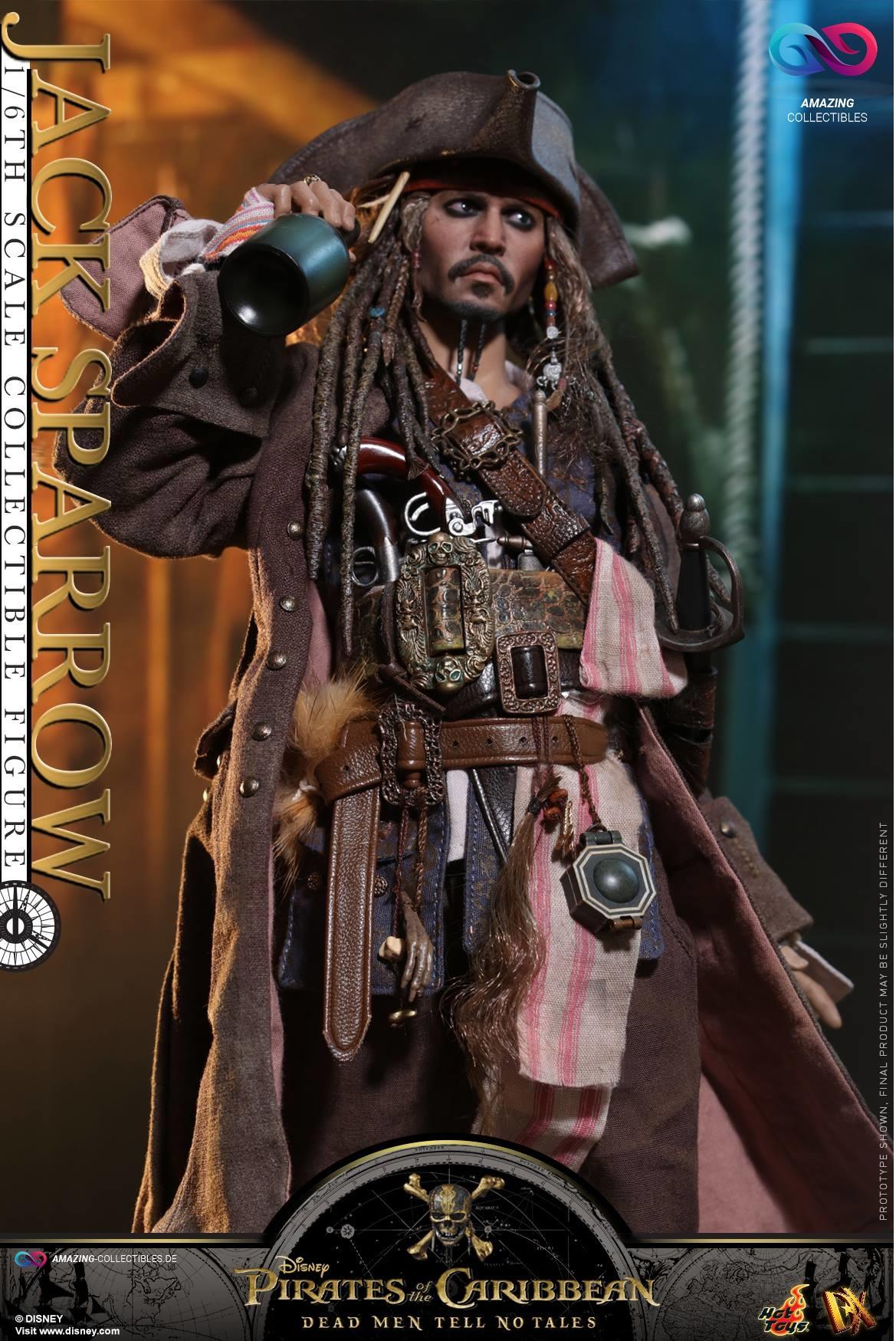 Hot Toys Captain Jack Sparrow Pirates of the Caribbean Dead