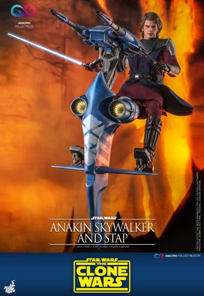 Hot Toys - Anakin Skywalker and Stap - Collectors Edition - Star Wars: The clone wars