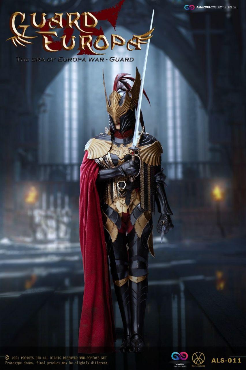 Poptoys - Eagle Knight Guard - Black armor Version- Guard of Europe