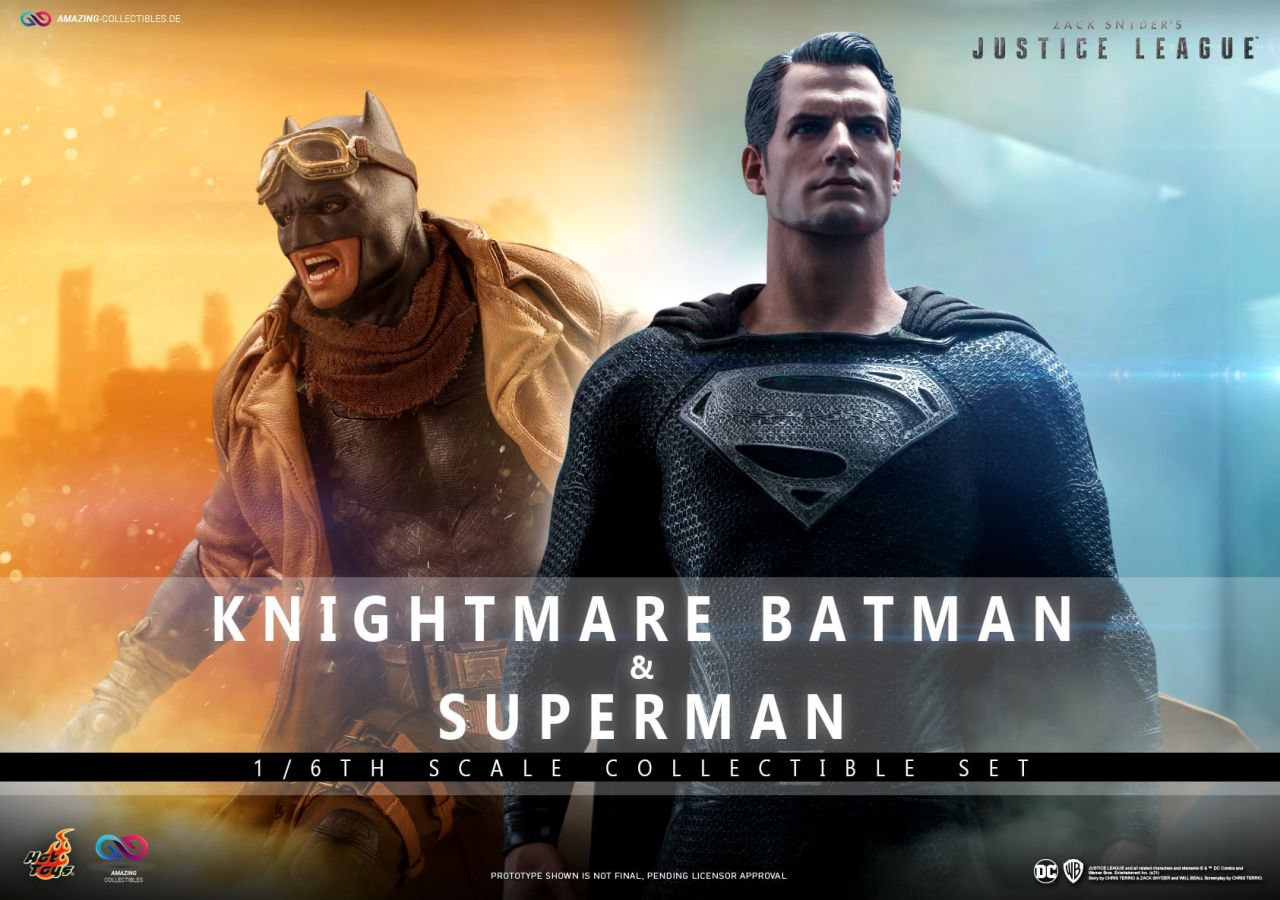 Hot Toys - Knightmare Batman and Black Suit Superman - Collectible Set - Zack Snyder`s Justice Leagu
