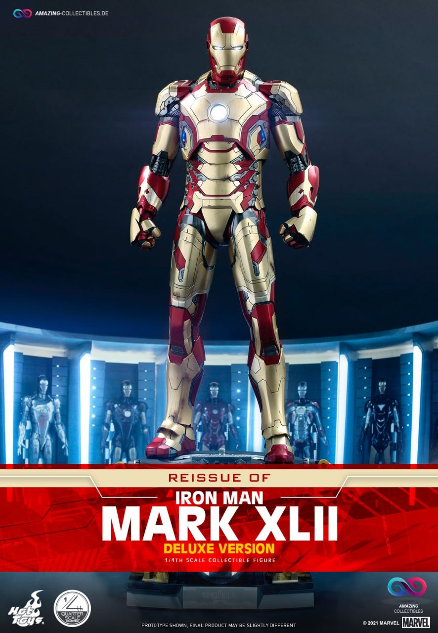 Hot Toys - Iron Man - Mark XLII - Deluxe Version - QS008 - Quarter Scale - Reissue - Iron Man 3
