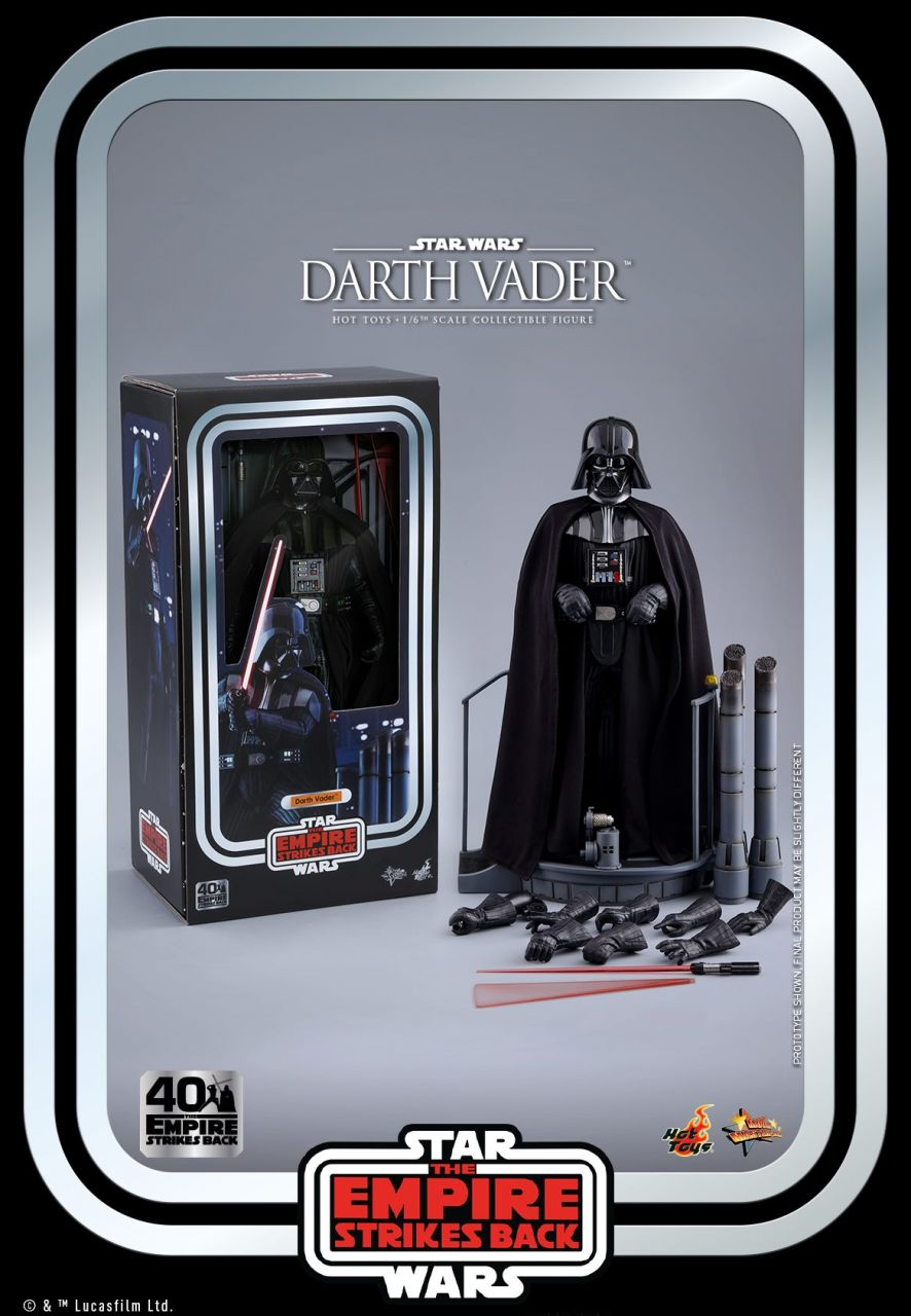 Hot Toys - Darth Vader - 40th Anniversary Version - Star Wars - Das Imperium schlägt zurück