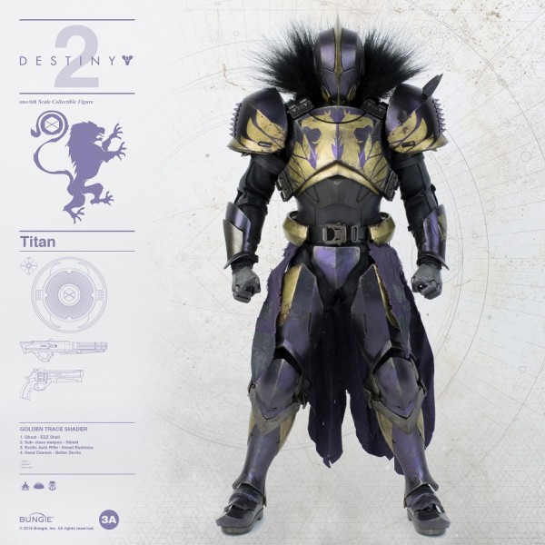 ThreeA - Golden Trace Shader -Bungie - Destiny 2 Titan