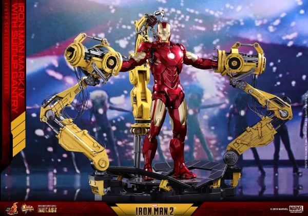 Hot Toys - Iron Man Mark IV Diecast mit Suit Up Gantry - Iron Man 2