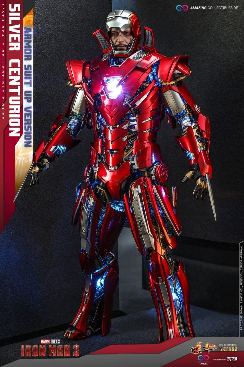 Hot Toys - Silver Centurion - Suit Up Version - MMS618D43 - Iron Man 3