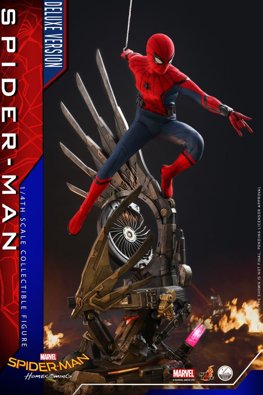 Hot Toys - Spiderman - Quarter Scale - Deluxe Version - Spiderman Homecoming
