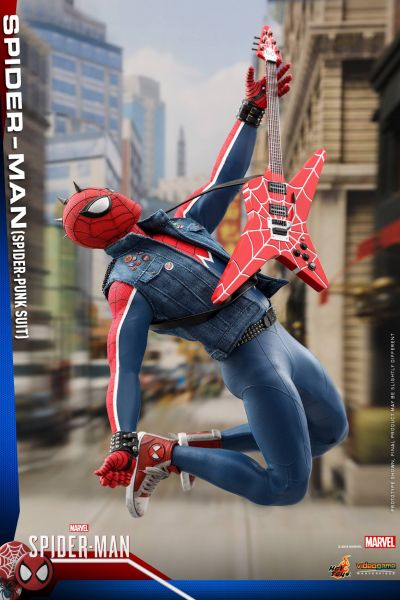 Hot Toys - Spiderman - Spider Punk Version - Marvel Spiderman - PS4 Videogame