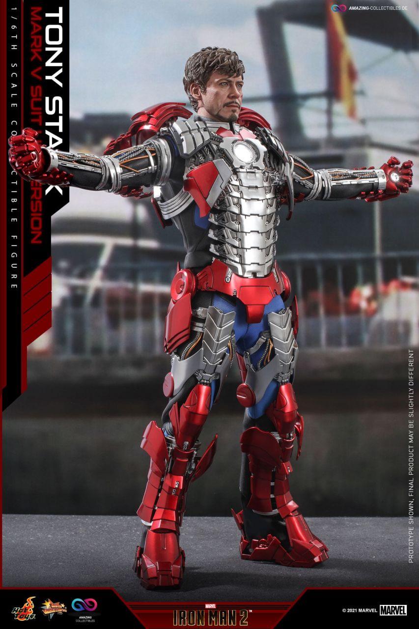Hot Toys - Tony Stark - Mark V Suit Up Version - Regular Version - MMS599 - Iron Man 2
