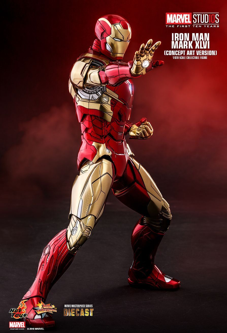 Hot Toys Iron Man Concept Art Version Marvel First Ten Years