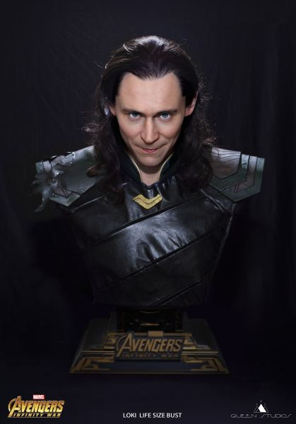 Queenstudios - Loki Life Size Bust - Avengers: Infinity War