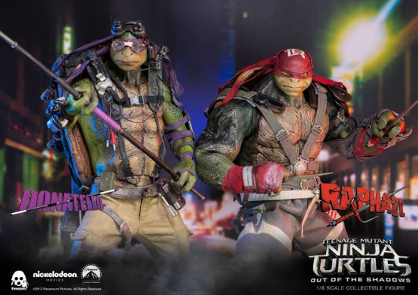 ThreeZero - Donatello und Raphael - Teenage Mutant Ninja Turtles - Out of the shadows