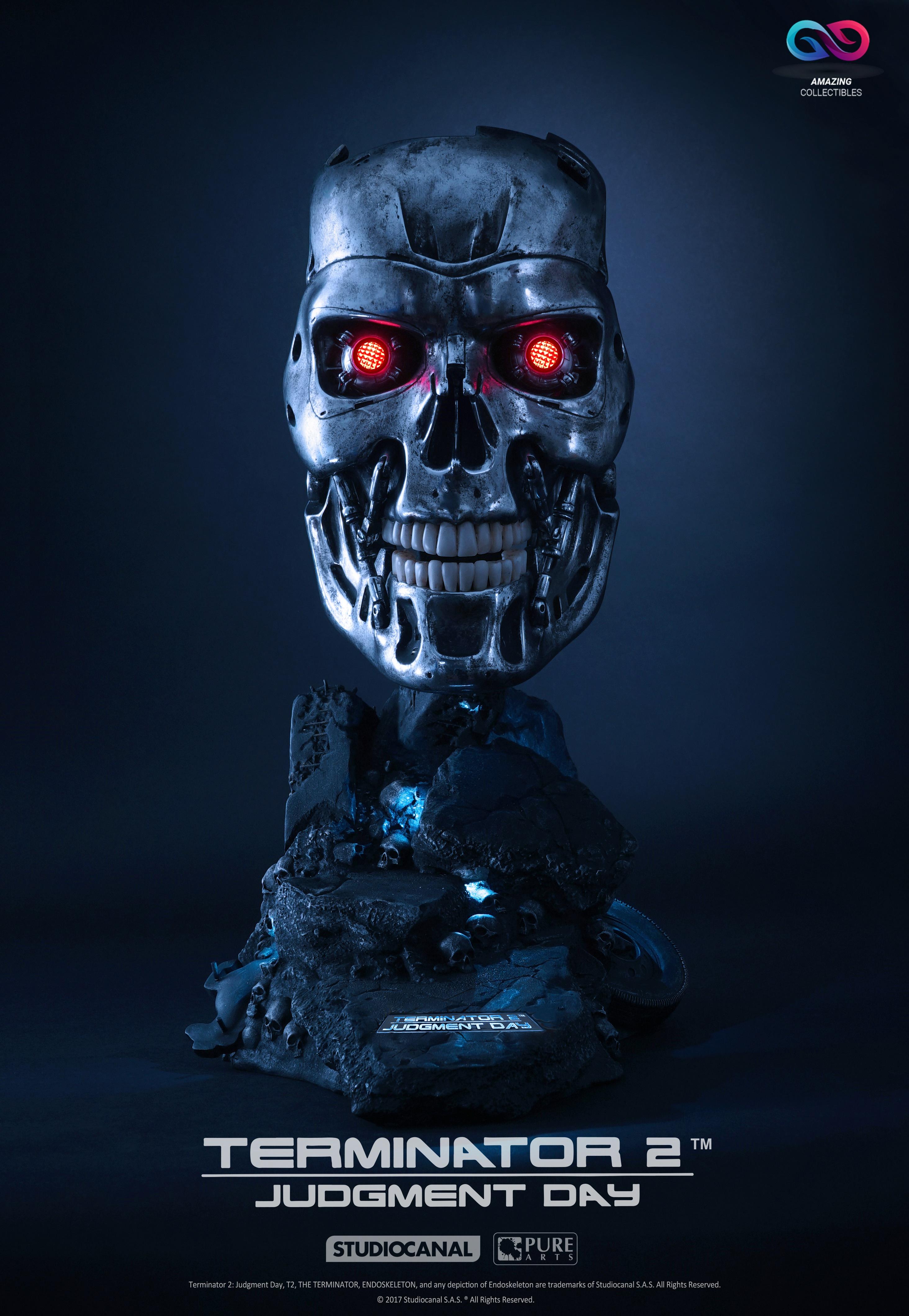 PureArts - T800 Endeskelett Art Mask - Terminator 2 Judgement Day - Limited  Edition | Vorbestellung | Andere Hersteller
