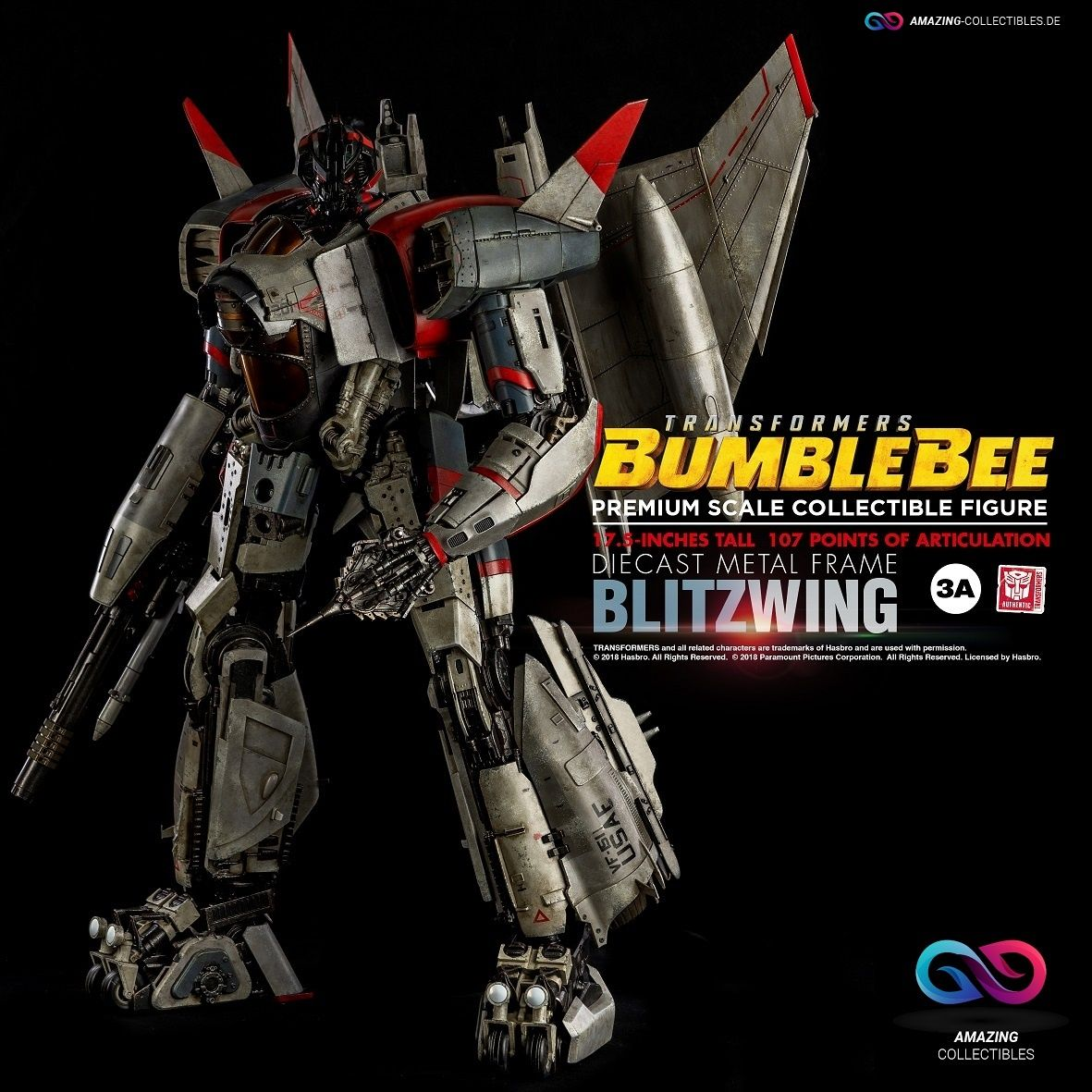 ThreeA - Blitzwing - Premium Scale - Transformers: Bumblebee