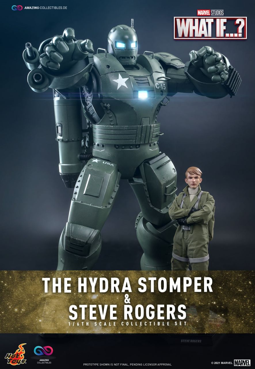 Hot Toys - The Hydra Stomper and Steve Rogers - TMS060 - What If...?