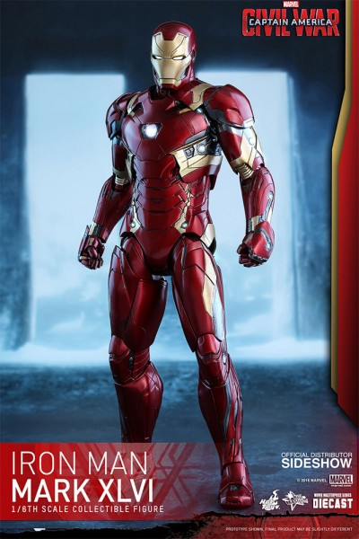Hot Toys - Iron Man Mark XLVI Diecast - Captain America Civil War