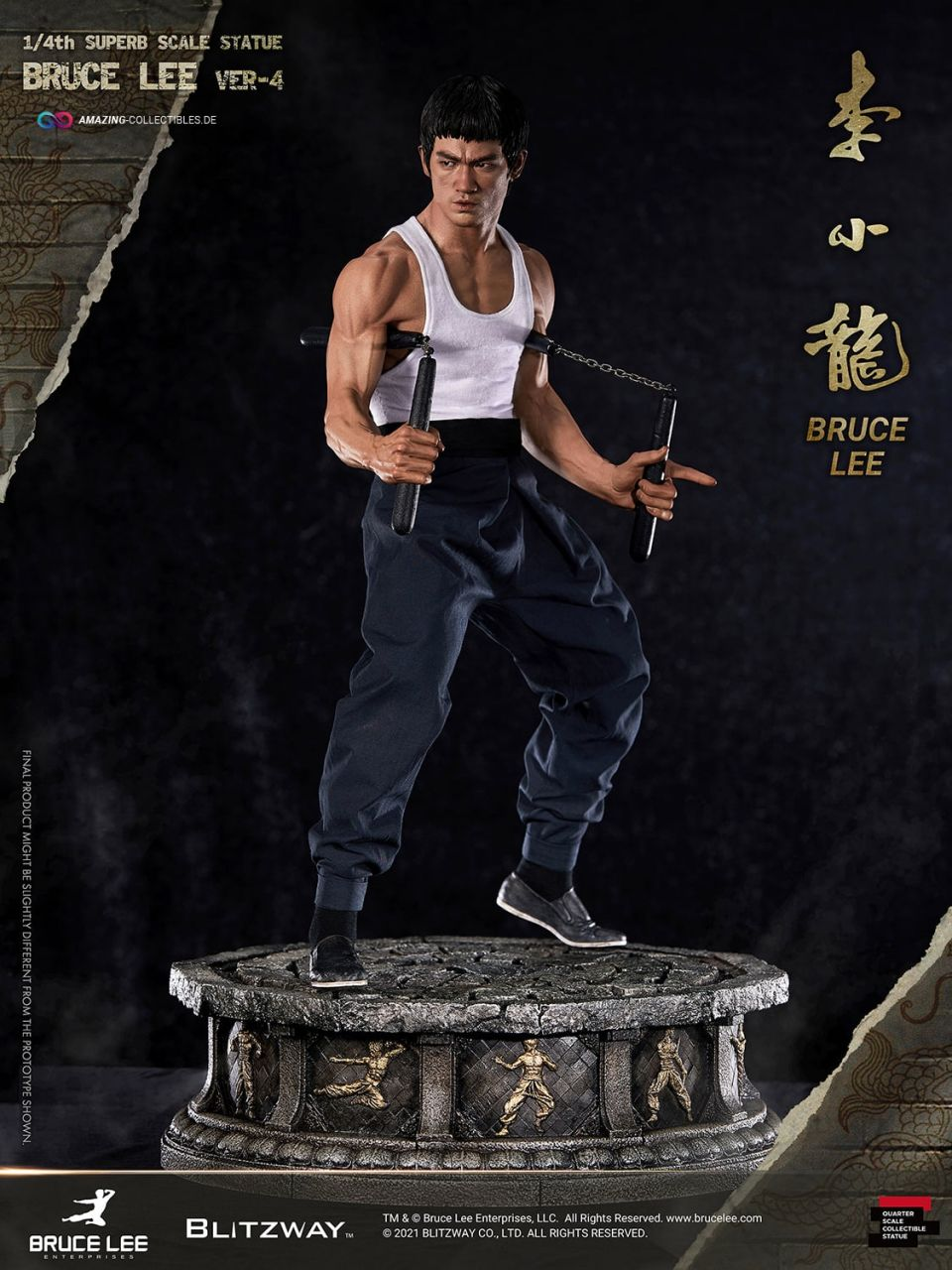 Blitzway - Bruce Lee - Tribute Statue Version 4 - Hybrid Statue Superb Scale