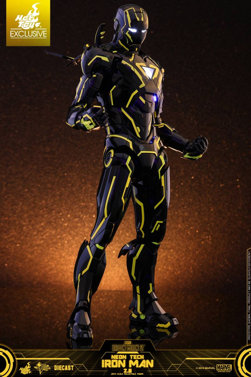 Hot Toys - Iron Man - Neon Tech 2.0 - Diecast - Exclusive