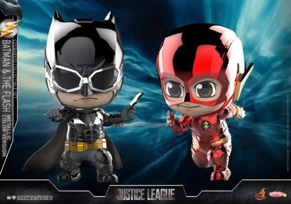 Hot Toys - Cosbabys - Batman & Flash Metallic Version - Justice League