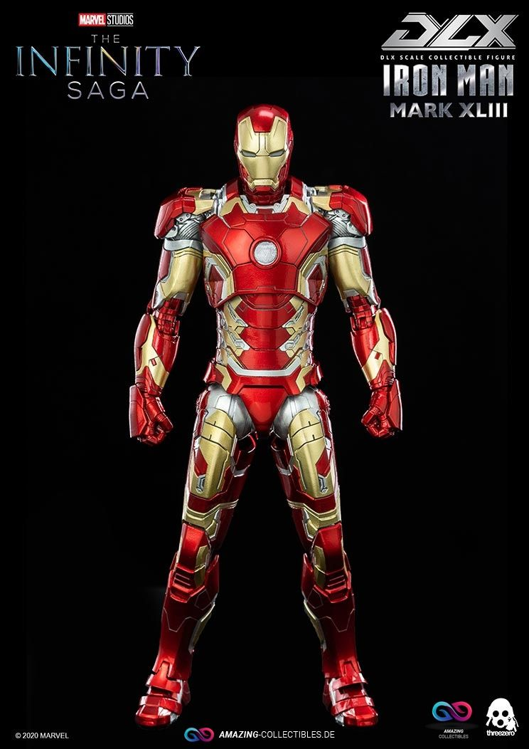 ThreeZero - Iron Man - Mark XLIII - DLX Scale - Marvel Infinity Saga