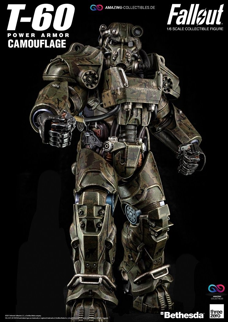 ThreeZero - Power Armor - T60 - Camouflage Version - Fallout